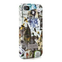 пластиковый чехол-накладка для apple iphone 4, 4s (ted baker 04019) (proporta hard shell garden print)