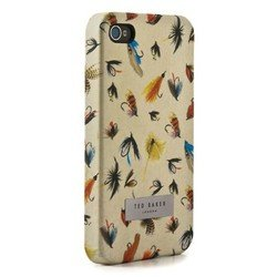 пластиковый чехол-накладка для apple iphone 4, 4s (ted baker 04026) (proporta hard shell fly fishing print)