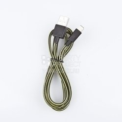 дата-кабель lightning - usb для apple iphone 5, 5c, 5s, 6, 6 plus, ipad 4, air, air 2, mini 1, mini 2, mini 3 (r0003821) (желтый/черный)