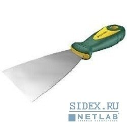 Шпательная лопатка KRAFTOOL с 2-компонент ручк,  профилиров нержав полотно,  100мм[10035-100]