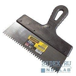 Шпатель STAYER PROFESSIONAL 250 мм, зуб 4х4 мм (1009-25-04) (зубчатый)