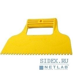 Шпатель STAYER 230 мм (1022-4) (зубчатый 4 х 4 мм)