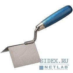 """Кельма STAYER """"PROFI"""" для внешних углов,  нержавеющее полотно,  80х60мм[0835]"""