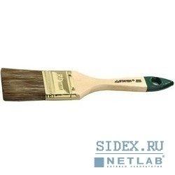 """Кисть плоская STAYER """"LASUR-STANDARD"""",  смешанная (натуральная и искусственная) щетина,  деревянная ручка,  25мм[01031-25]"""