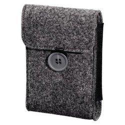 """Чехол для внешнего жесткого диска 2.5"""" (Hama H-95543 Felt) (серый)"""