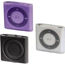 Набор Hama H-13291 футляров Sport Case для iPod shuffle 4G 3 шт. силикон прозрачный, черный, лиловый