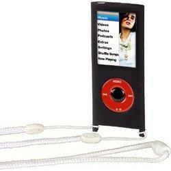 Силиконовый чехол для Apple iPod nano 4G (Hama H-23555 Sport Case) (черный)