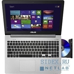 "ноутбук asus k551ln i5-4210u, 6g, 1000g, dvd-smulti, 15, 6""hd, nv 840g 2g, wi-fi, bt, camera, win8.1 (90nb05f2-m03990)"