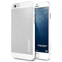 "Клип-кейс для Apple iPhone 6 4.7"" Spigen Aluminum Fit (SGP10947) (серебристый)"