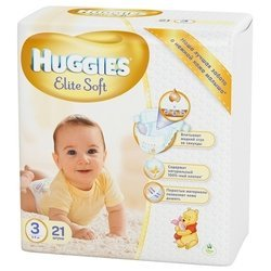 Huggies Elite Soft 3 (5-9 кг) 21 шт.