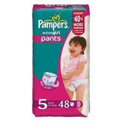 pampers active girl 5 (12-18 кг) 48 шт.