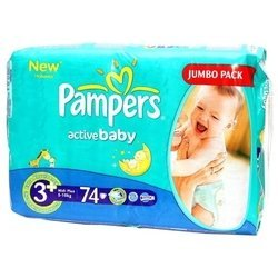 ��������� pampers active baby 3+ (5-10 ��) 74 ��.