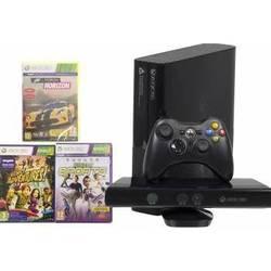 Игровая консоль Microsoft Xbox 360 4GB E Stingray + игры: Kinect Sport 1, Forza Horizon, Kinect Adventures (N7V-00088) (черный)