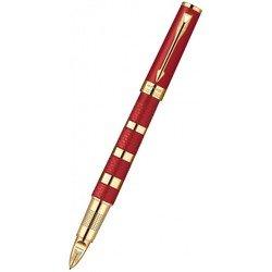 Ручка-5й пишущий узел Parker Ingenuity L F503 Ring Red&Metal GT Fblack