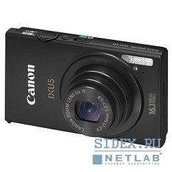 цифровая камера canon ixus 240 hs black (wifi) 16mp cmos,  5x