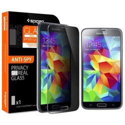 "защитная пленка для samsung galaxy s5 oleophobic coated tempered ""glas.tr slim privacy""(spigen sgp10841)"