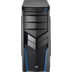 Корпус Aerocool V2X без БП Blue Edition (4713105952681) (черный/синий)
