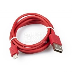 Дата-кабель Lightning - USB для Apple iPhone 5, 5C, 5S, 6, 6 plus, iPad 4, Air, Air 2, mini 1, mini 2, mini 3 (Belkin R0001201) (красный)