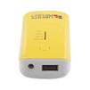 Универсальный внешний аккумулятор USB (F0000004) (желтый) - Внешний аккумуляторУниверсальные внешние аккумуляторы<br>Универсальный внешний аккумулятор это дополнительное внешнее зарядное устройство, предназначенное для зарядки устройств там, где нет доступа к электричеству.<br>