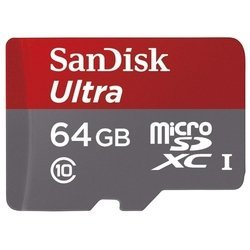 Sandisk Ultra microSDXC Class 10 UHS-I 48MB/s 64GB + SD adapter (SDSQUNB-064G-GN3MA)