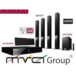 5.1 DVD система домашнего кинотеатра Pioneer DCS-414K  (DV404K+DV414SW+BD707T)