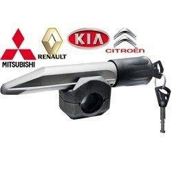 Блокиратор руля для Mitsubishi Lancer Х, Outlander, Outlander XL, Renault Logan, KIA, Citroen (Гарант БЛ 134.Е)