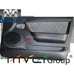 Подиум в двери для Daewoo Nexia 2008 (02-012-1) (черный)