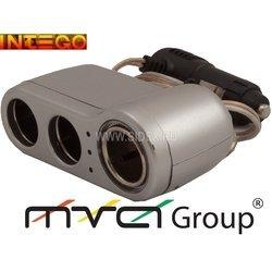Разветвитель прикуривателя на 3 гнезда (Intego C-04) (серебристый)