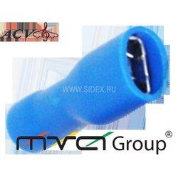 Клемма акустическая W=4.8, 14-16AWG (ACV RM37-1411) (синяя)