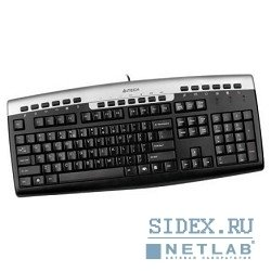 клавиатура keyboard a4tech kr-86 silver-black ps, 2