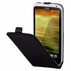 чехол-флип для htc one (hama smart case 75073) (черный)