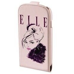 чехол-флип для apple iphone 5, 5s, se (hama elle lady h-123612) (розовый)