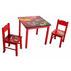 Набор детский стол + 2 стула Бюрократ KidSet-01, Cars столешница:красный МДФ 59.5х59.5х53.3, 28х30х30, 57см