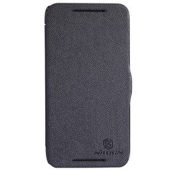 чехол-книжка для htc desire 601 (nillkin fresh series leather case) (черный)