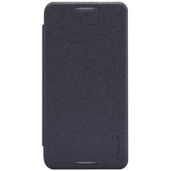чехол-книжка для htc desire 610 (nillkin sparkle leather case) (черный)