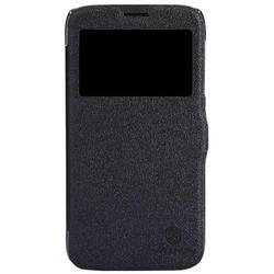 чехол-книжка для lenovo a859 (nillkin fresh leather case) (черный)