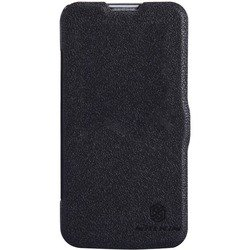 чехол-книжка для lg l90 d410 (nillkin fresh series leather case) (черный)