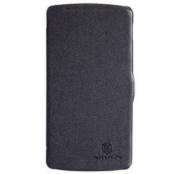 чехол-книжка для lg nexus 5 (nillkin fresh series leather case) (черный)