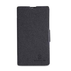 чехол-книжка для nokia lumia 520 (nillkin fresh series leather case) (черный)