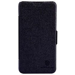 чехол-книжка для nokia lumia 630 (nillkin fresh series leather case) (черный)