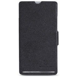 чехол-книжка для sony xperia sp (nillkin fresh series leather case) (черный)