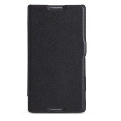чехол-книжка для sony xperia c (nillkin fresh series leather case) (черный)