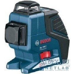 Лазерные дальномеры,  уровни,  детекторы Bosch GLL 2-80 Нивелир лазерный линейный + BM1(нов.)+LR2+L-BOX (линейн,  2плоск,  80м,  точн.0, 3мм, м,  0, 68 кг) [0601063209]