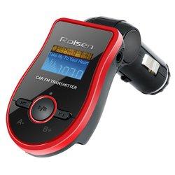 Автомобильный FM-модулятор Rolsen RFA-380 (черный-красный)