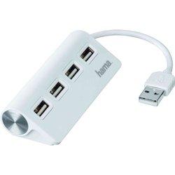 Разветвитель USB 2.0 на 4 порта (Hama Hub-12178) (белый)