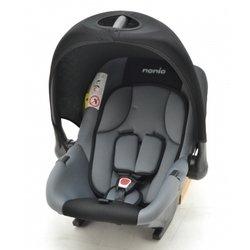 Автокресло детское от 0 до 13 кг (Nania Baby Ride ECO rock) (серо-черный)