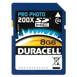 duracell pro photo sdhc class 10 8gb