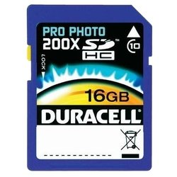 duracell pro photo sdhc class 10 16gb