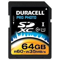 duracell pro photo sdxc class 10 uhs-i u1 64gb