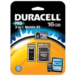 duracell pro microsdhc class 10 16gb + sd adapter & usb card reader